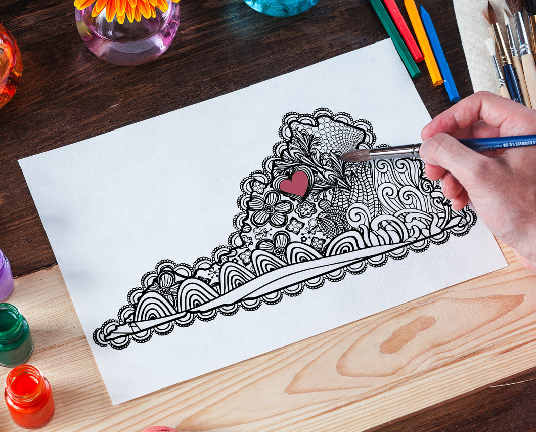 I Heart Virginia Harrisonburg Coloring Page-Craft and Color Co