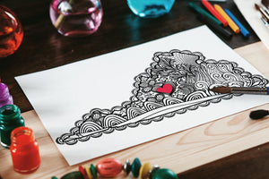 I Heart Virginia Lynchburg Coloring Page