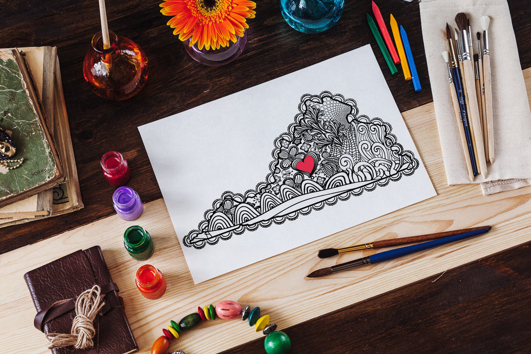 I Heart Virginia Lynchburg Coloring Page-Craft and Color Co
