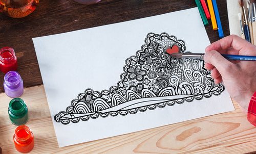 I Heart Virginia NoVa Coloring Page-Craft and Color Co