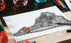 I Heart Virginia Southwest Emory & Henry Abingdon Coloring Page