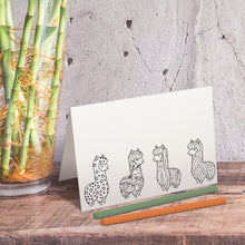 Llama Coloring Note Cards-Craft and Color Co