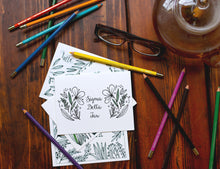 Sigma Delta Tau Coloring Note Cards-Craft and Color Co