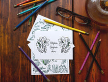 Alpha Sigma Tau Coloring Note Cards-Craft and Color Co