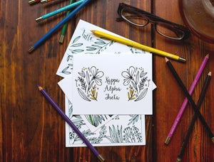 Kappa Alpha Theta Coloring Note Cards-Craft and Color Co