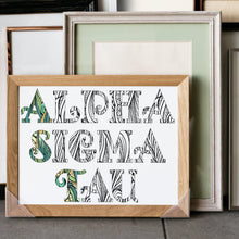 Alpha Sigma Tau Fancy Name Coloring Poster