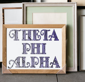 Theta Phi Alpha Fancy Name Coloring Poster