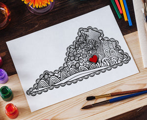 I Heart Virginia Farmville Longwood Hampden-Sydney Coloring Page-Craft and Color Co