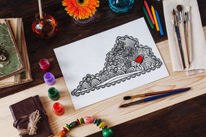 I Heart Virginia Richmond Coloring Page-Craft and Color Co