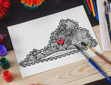 I Heart Virginia Sweet Briar College Coloring Page