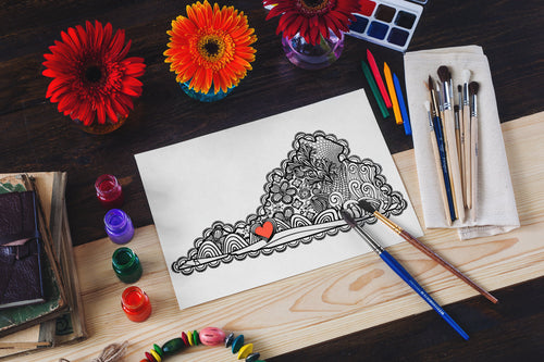 I Heart Virginia Radford Coloring Page-Craft and Color Co