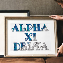 Alpha Xi Delta Fancy Name Coloring Poster