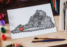 I Heart Virginia Southwest Emory & Henry Abingdon Coloring Page-Craft and Color Co