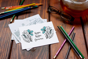 Kappa Kappa Gamma KKG Coloring Note Cards-Craft and Color Co