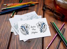 Theta Phi Alpha Coloring Note Cards-Craft and Color Co