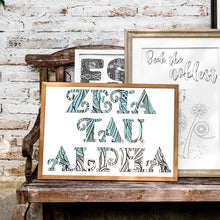 Zeta Tau Alpha Fancy Name Coloring Poster Print
