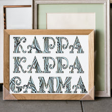 Kappa Kappa Gamma Fancy Name Coloring Poster