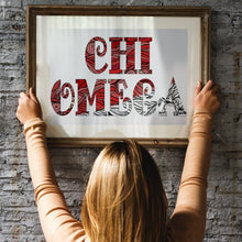 Chi Omega CHI O Fancy Name Coloring Poster