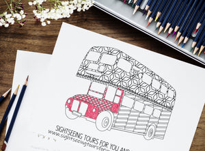 Custom Coloring Page for Your Business | Personalized Branded Marketing Materials