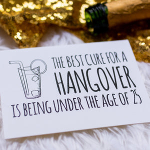Funny Hangover Cure Greeting Card