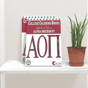 Alpha Omicron Pi AOII Coloring Book-Craft and Color Co