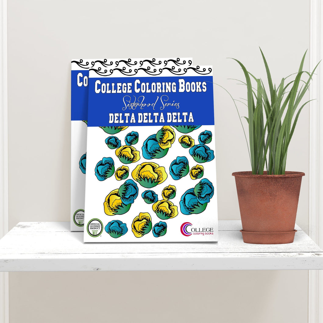 Delta Delta Delta TriDelta Coloring Book-Craft and Color Co