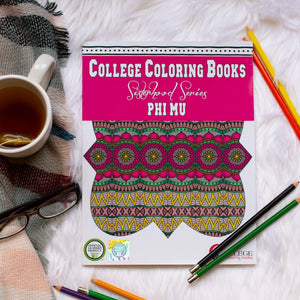 Phi Mu Fraternity Coloring Book-Craft and Color Co