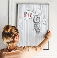 "Chi Omega Owl Coloring Poster ""You had me at CHI O"""