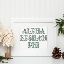 Alpha Epsilon Phi Fancy Name Coloring Poster-Craft and Color Co