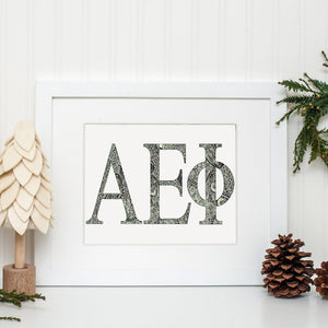 Alpha Epsilon Phi Greek Letter Coloring Poster Print-Craft and Color Co