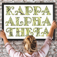 Kappa Alpha Theta Fancy Name Coloring Poster