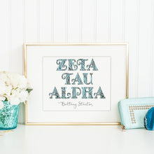 Zeta Tau Alpha Fancy Name Coloring Poster Print-Craft and Color Co