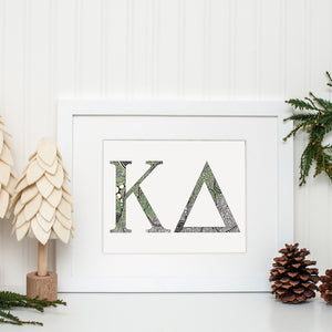 Kappa Delta Greek Letter Coloring Poster-Craft and Color Co