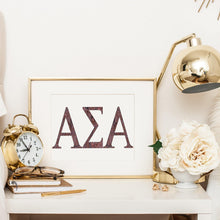Alpha Sigma Alpha Greek Letter Coloring Poster-Craft and Color Co