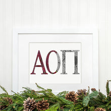 Alpha Omicron Pi Greek Letter Adult Coloring Poster Print-Craft and Color Co