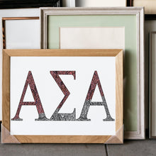 Alpha Sigma Alpha Greek Letter Coloring Poster