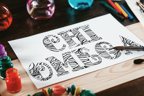 Chi Omega Fancy Name Coloring Page Digital Download-Craft and Color Co