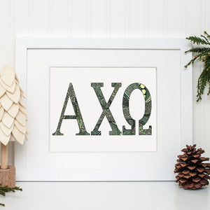 Alpha Chi Omega Greek Letter Coloring Poster-Craft and Color Co