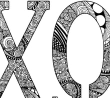 Alpha Chi Omega Greek Letter Coloring Poster