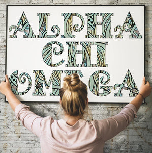 Alpha Chi Omega Fancy Name Coloring Poster