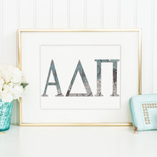 Alpha Delta Pi Greek Letter Coloring Poster Print-Craft and Color Co