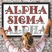 Alpha Sigma Alpha Fancy Name Coloring Poster Print