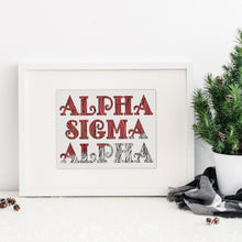 Alpha Sigma Alpha Fancy Name Coloring Poster Print-Craft and Color Co
