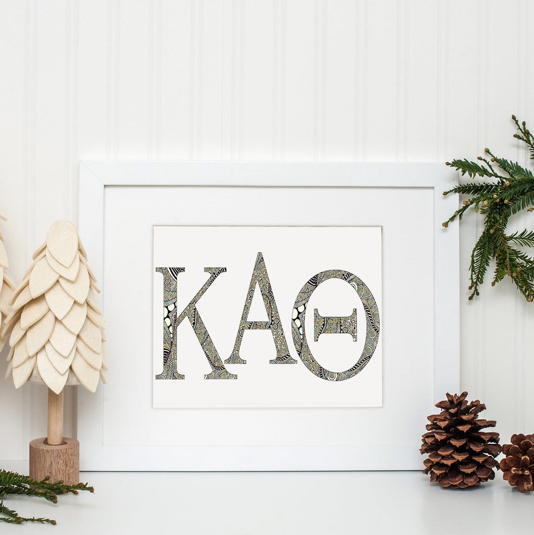Kappa Alpha Theta Greek Letter Coloring Poster-Craft and Color Co