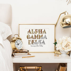 Alpha Gamma Delta Fancy Name Coloring Poster Print-Craft and Color Co