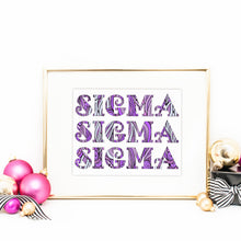Sigma Sigma Sigma Fancy Name Coloring Poster-Craft and Color Co
