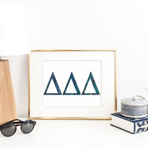 Delta Delta Delta Greek Letter Coloring Poster-Craft and Color Co