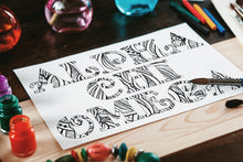 Alpha Chi Omega Fancy Name Coloring Page Digital Download-Craft and Color Co