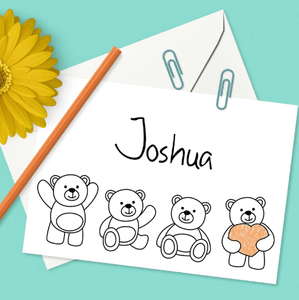 Personalized Children's Coloring Note Cards with Envelopes-Craft and Color Co