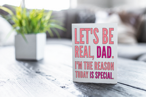"Funny Father's Day Coloring Note Card ""Let's Be Real""-Craft and Color Co"